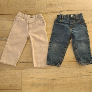 (2/$15) Lot of Baby Boy 18 Months Pants